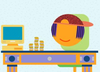 illustration of child with pocket money