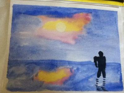sunset watercolour