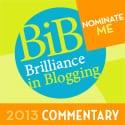 NOMINATE ME BiB 2013 COMMENTARY
