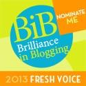 NOMINATE ME BiB 2013 FRESH VOICE