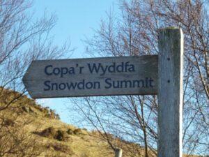 Snowdon sign