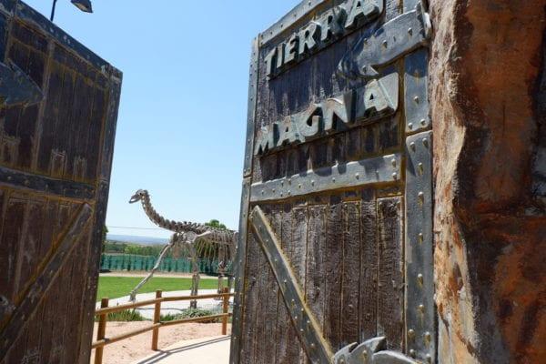 dinotopia in Aragon - gate to park