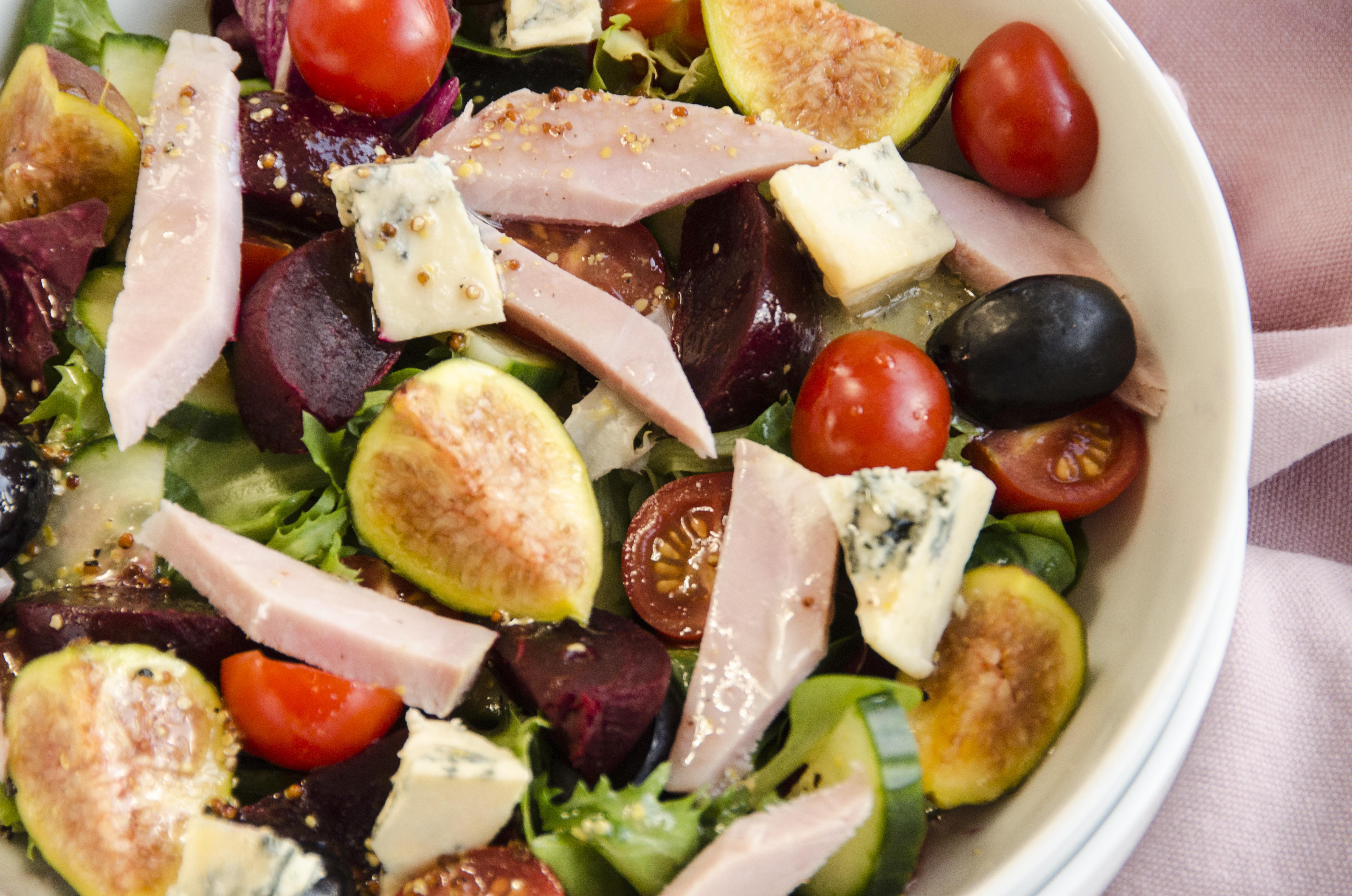 Ham & Blue Cheese Salad