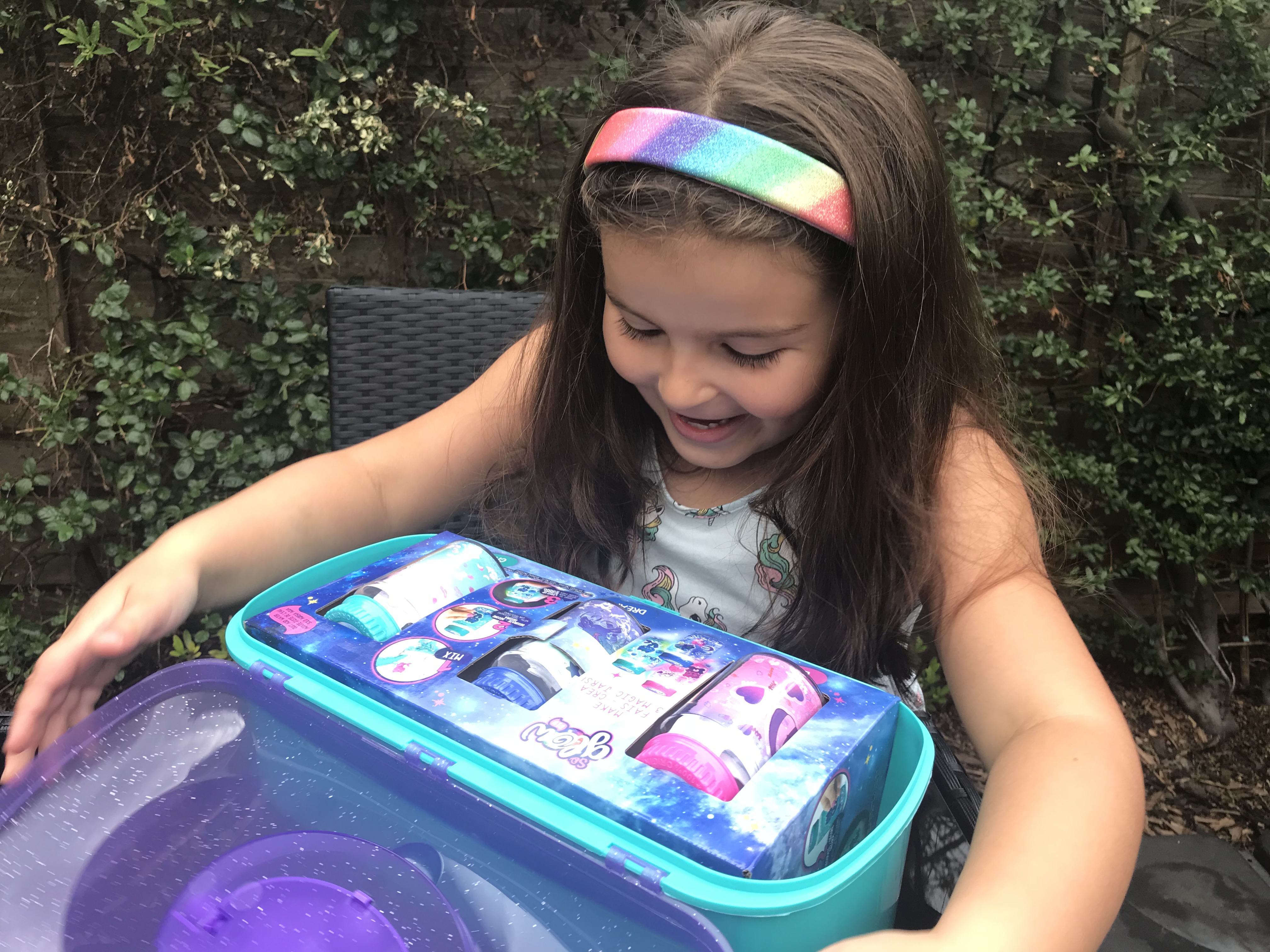 Magic Glow case and child