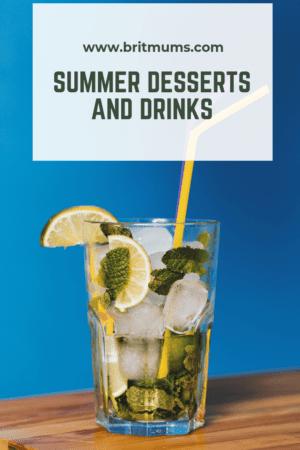 Summer desserts & drinks Pinnable image